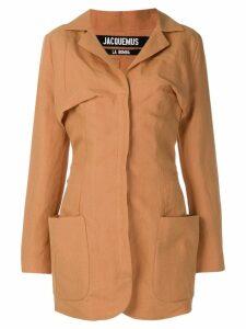 Jacquemus longline blazer jacket - Yellow