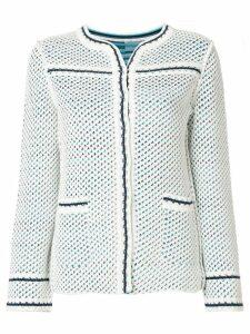 Charlott short knit jacket - Blue
