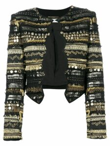 Saint Laurent embroidered fitted jacket - Black