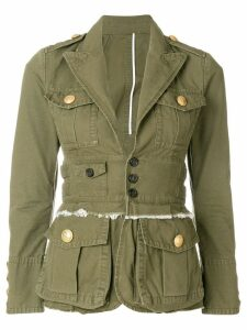 Dsquared2 fitted military jacket - Green