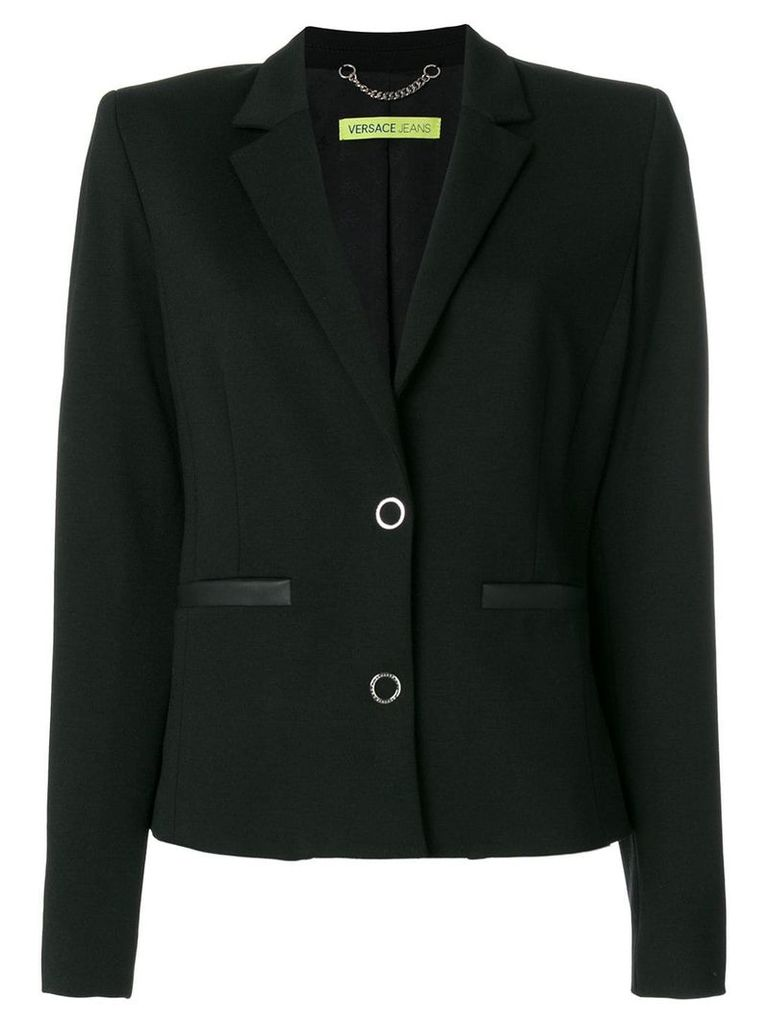 Versace Jeans fitted blazer jacket - Black