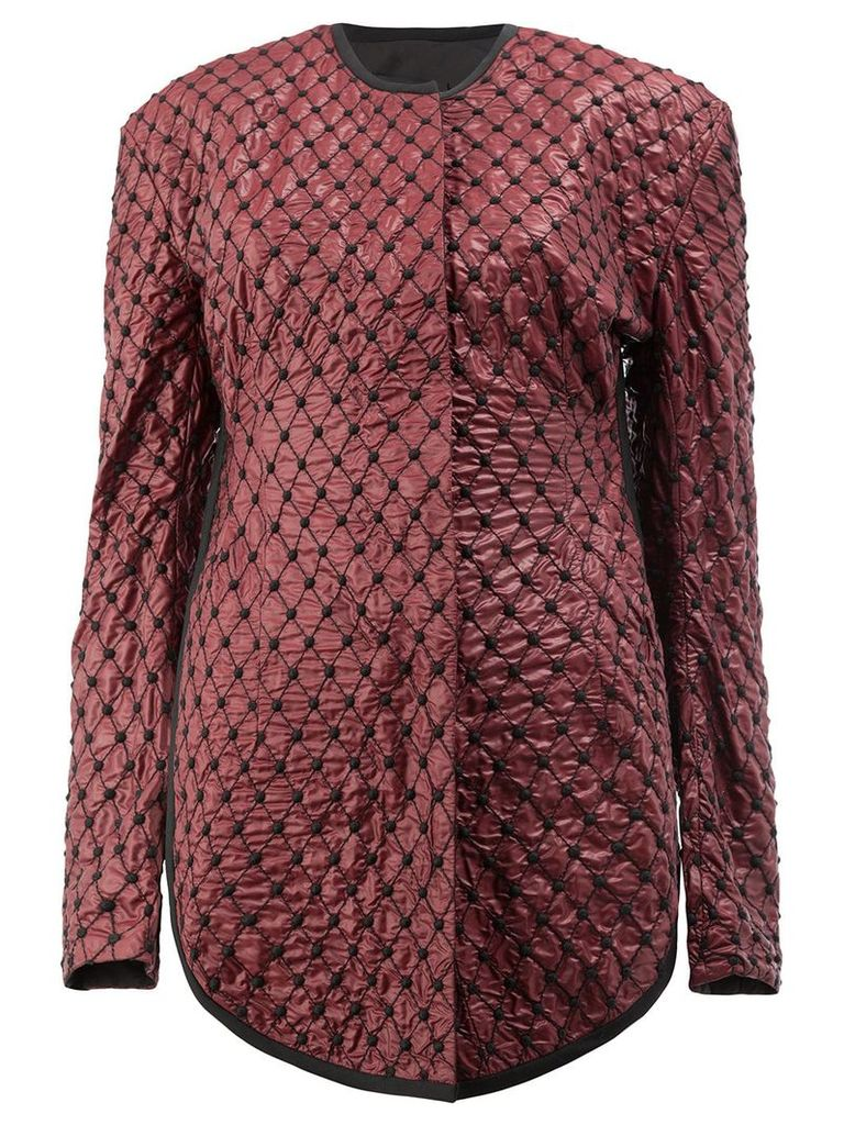 Litkovskaya quilted fitted jacket - Red