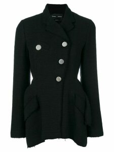 Proenza Schouler Asymmetrical Cotton Tweed Blazer - Black