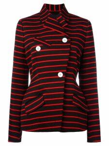 Proenza Schouler wrap front striped jacket - Black