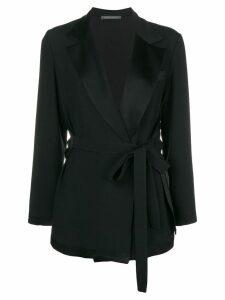 Alberta Ferretti belted tailored jacket - Black