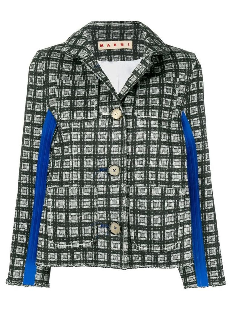 Marni printed buttoned jacket - Green