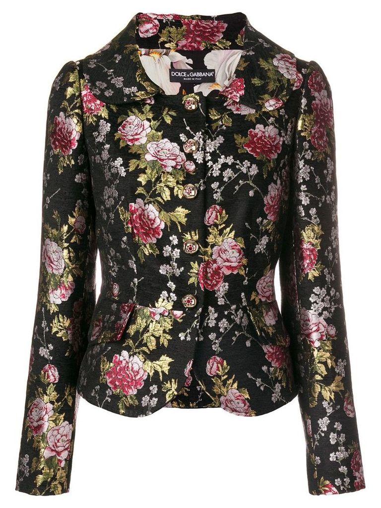Dolce & Gabbana floral brocade jacket - Black