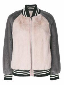 Liska colour block bomber jacket - Pink