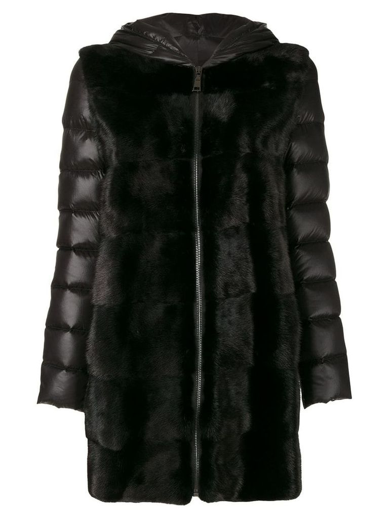 Cara Mila Lisa down mink coat - Black