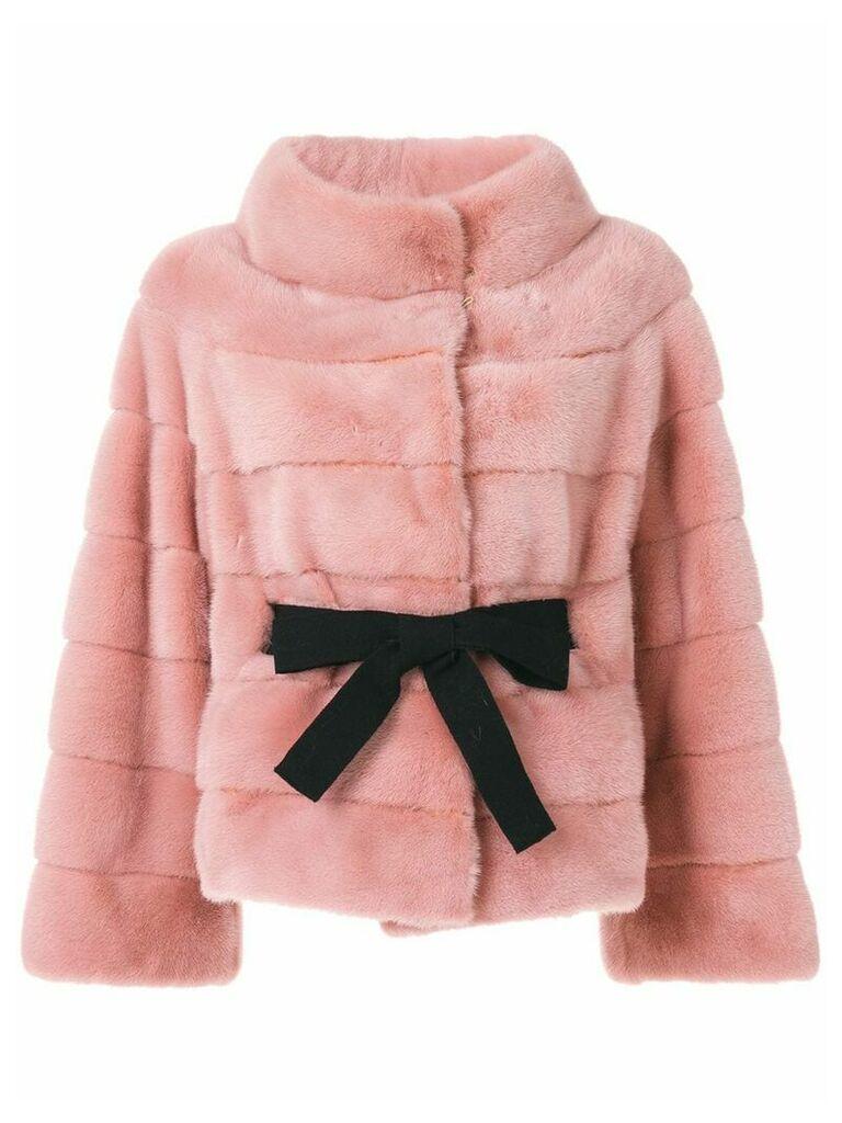 Liska wide collar jacket - Pink
