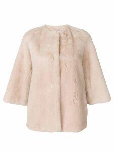 Yves Salomon short fur jacket - Pink