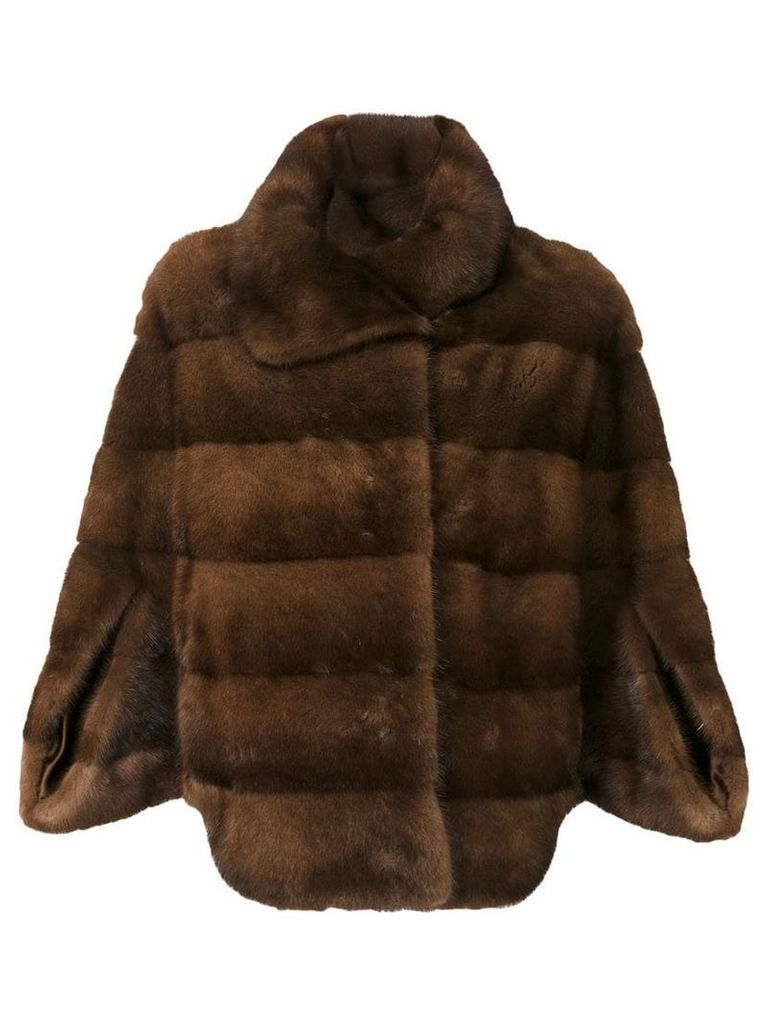 Liska Demibuff fur coat - Brown