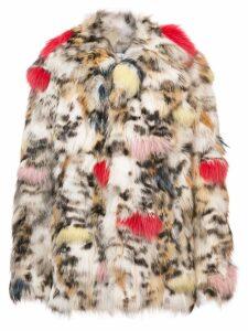 Saint Laurent oversized patterned jacket - Neutrals