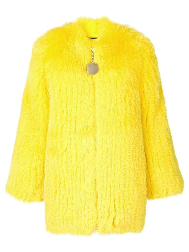 Givenchy fox fur collarless jacket - Yellow