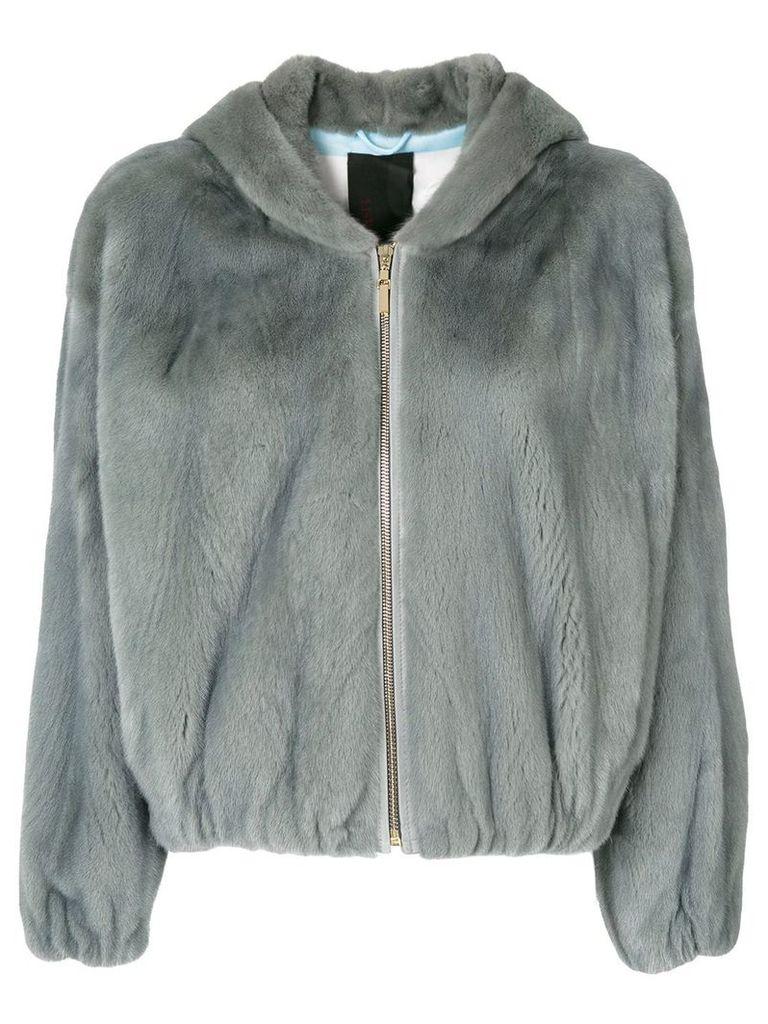 Liska fur zipped jacket - Grey