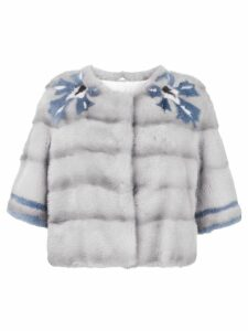 Simonetta Ravizza mink fur short jacket - Grey