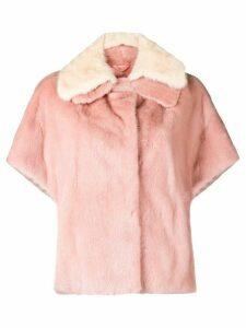 Liska layered collar jacket - Pink