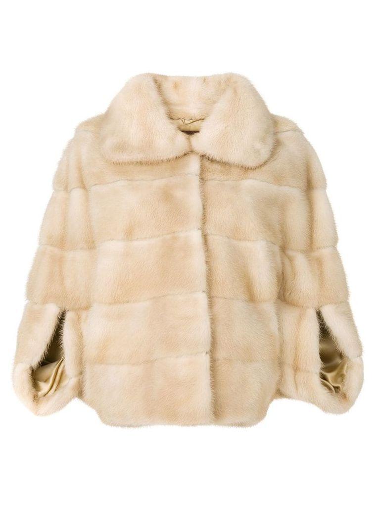 Liska Romea fur jacket - Brown