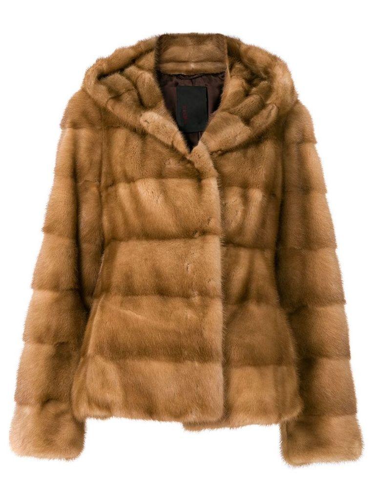 Liska Valenzia hooded jacket - Brown
