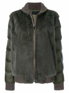 Liska fur detail jacket - Brown