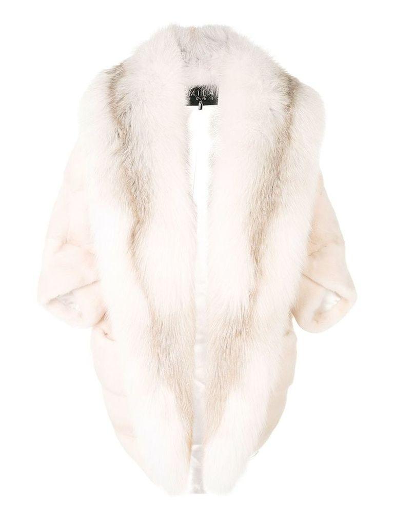 Cara Mila Marilyn Fox & Mink Coat - Neutrals