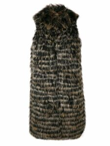Twin-Set racoon fur gilet - Black