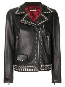 Miu Miu studded leather jacket - Black