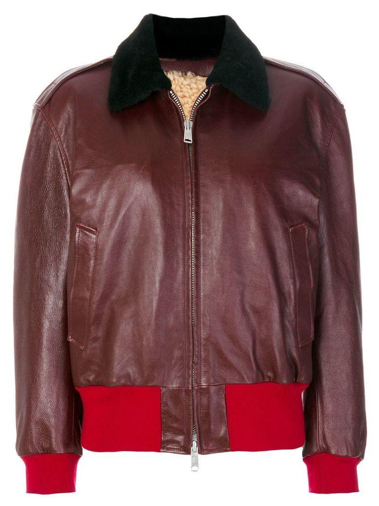 Calvin Klein 205W39nyc colour block zip jacket - Red
