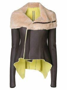 Rick Owens off-centre zipped jacket - Multicolour
