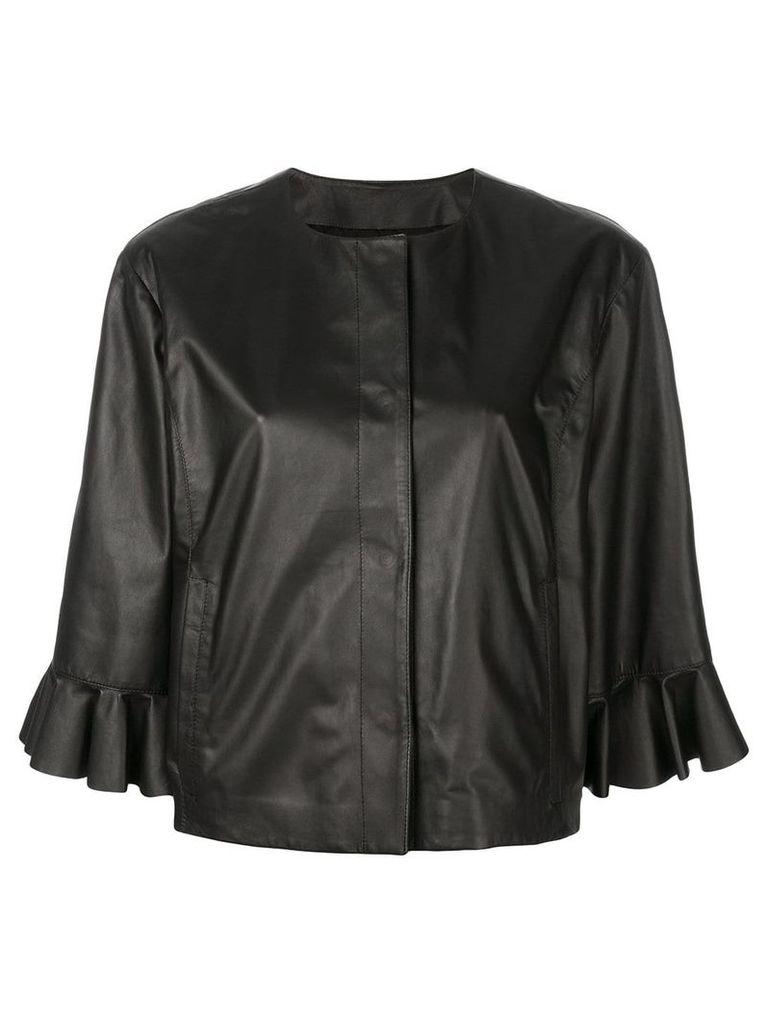 Drome frilled loose jacket - Black