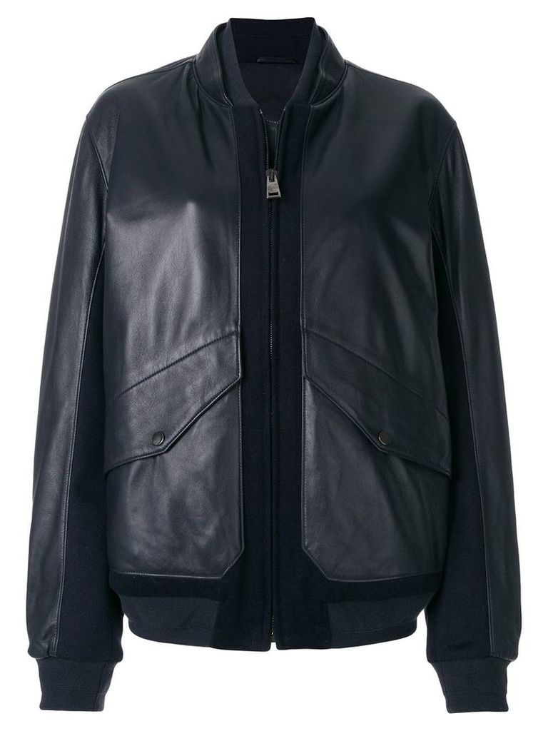 Liska panelled bomber jacket - Blue