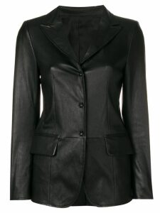Sylvie Schimmel Lord press stud fitted jacket - Black