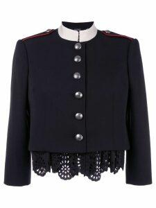 Alexander McQueen Military lace insert jacket - Black