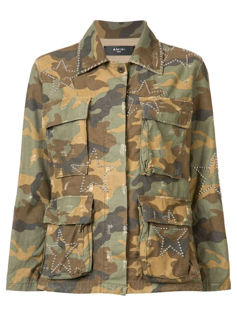 Amiri camouflage print jacket - Green