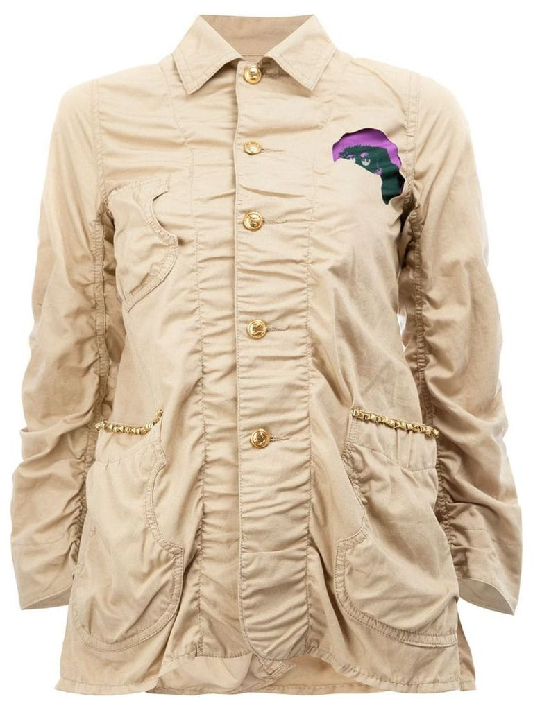 Undercover patched military jacket - Neutrals