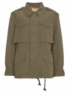 Gucci logo print military jacket - Green