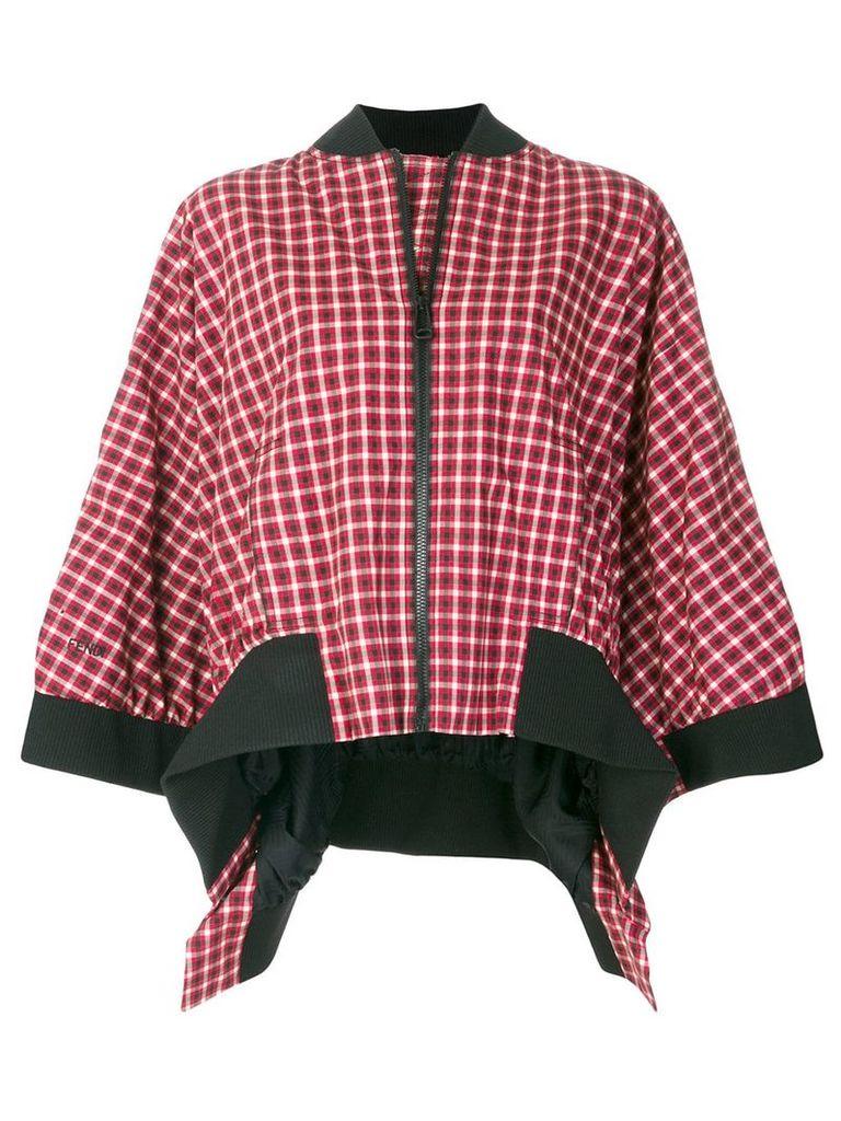 Fendi plaid flared jacket