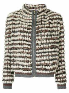 Cara Mila Hailey knitted jacket - White