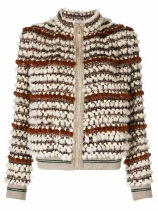 Cara Mila Hailey knitted mink jacket - Brown