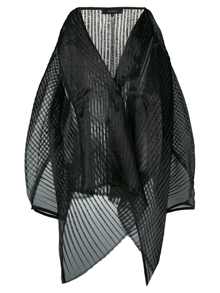 Sid Neigum structured sheer pleated jacket - Black