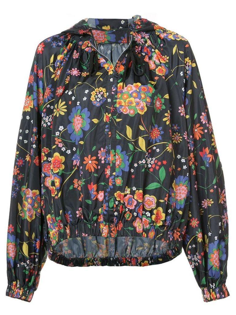 Tibi floral print oversized jacket - Blue