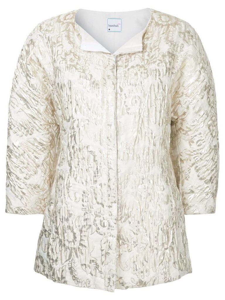 Bambah gold cocoon jacket - White