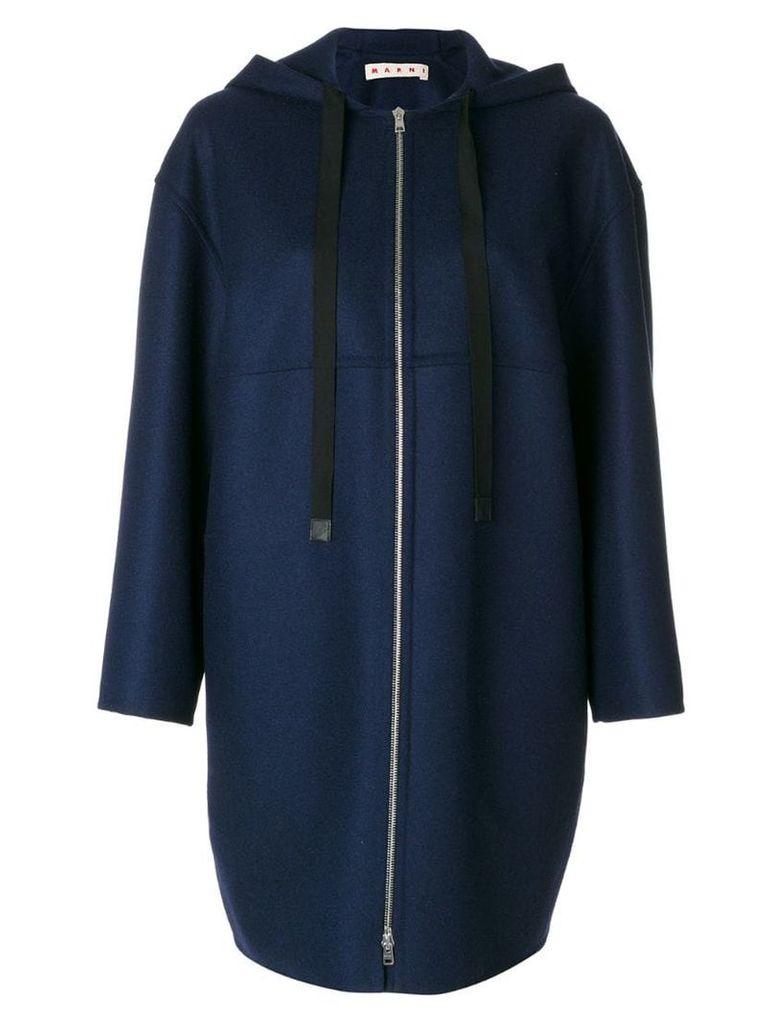 Marni oversized hooded jacket - Blue