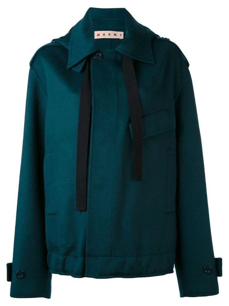 Marni oversized placket jacket - Green