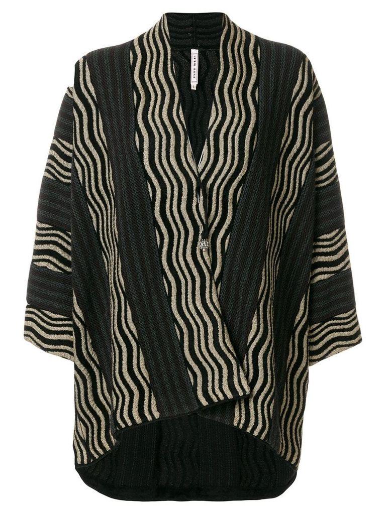 Antonio Marras striped jacket - Black