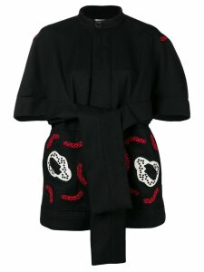 Henrik Vibskov Kombucha embroidery coat - Black
