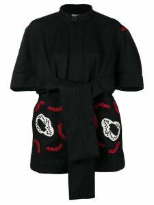Henrik Vibskov Kombucha embroidery coat - Black