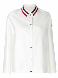 Moncler striped collar shirt jacket - White