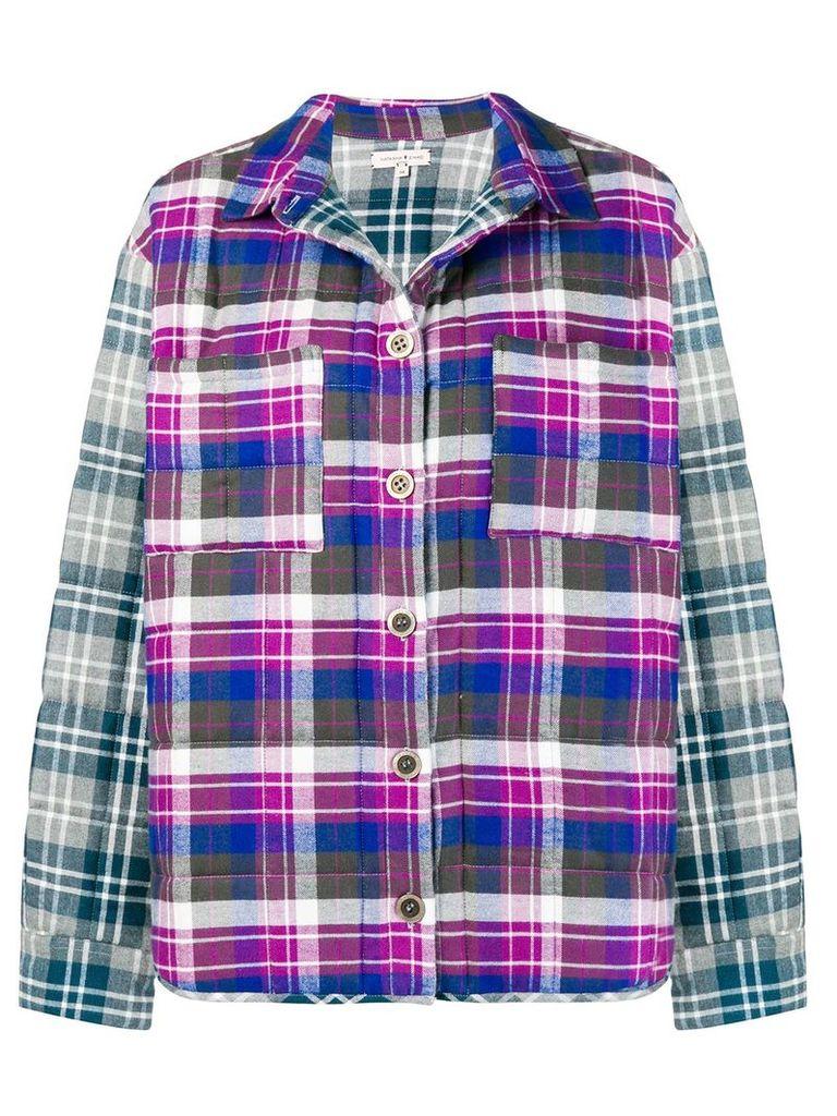 Natasha Zinko plaid shirt jacket - Multicolour