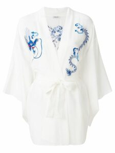 P.A.R.O.S.H. embroidered kimono jacket - White